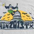 Thanks to Matt Clinkscales for the 2013 Austin Gorilla Run t-shirt design! Make sure to order yours during online registration, buy one at the retail booth on event day, or fundraise...