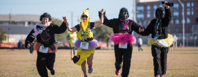 It's time to pick up your gorilla & banana suits! Visit us at any of the below locations to claim your gorilla or banana suits, bib numbers and race bags....